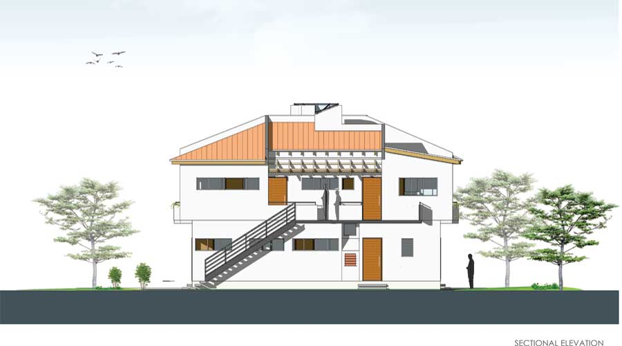 Richard Kroboakpo Apartments Ijegun - sectional elevation
