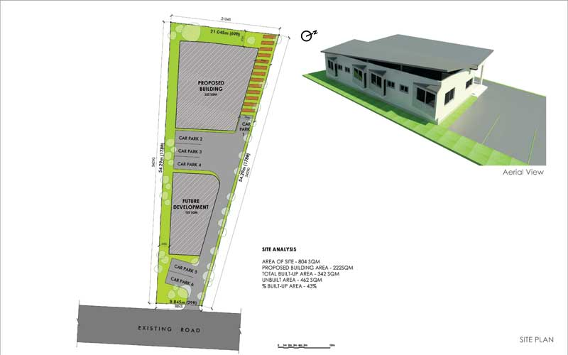 Sunday Oyaha Family House Agenebode - site plan
